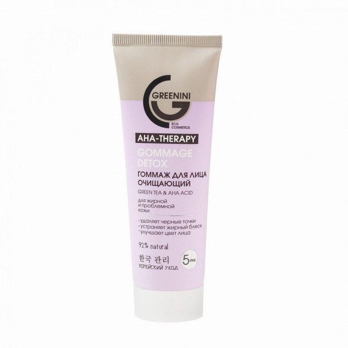 Greenini Greenini Aha Therapy Gommage Detox Green Tea & Aha Acid 75ml peeling do twarzy