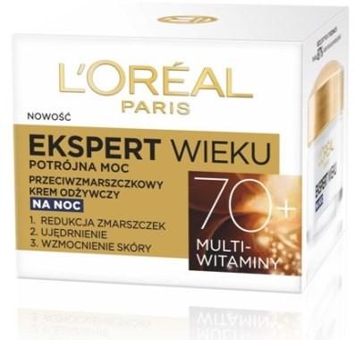 Loreal Paris Przeciwzmarszczkowy krem odżywczy na noc Ekspert wieku 70+ - Age Specialist Night Cream