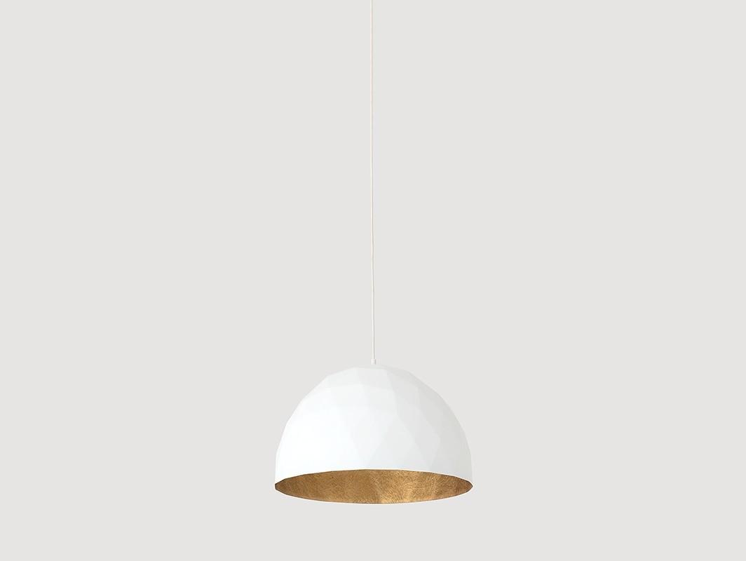 Customform Lampa wisząca LEONARD M - złoto-biały LP001LEN-35-1901