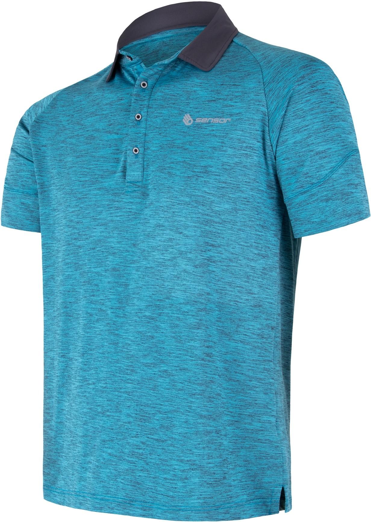 Sensor koszulka polo męska Motion niebieska XL