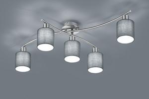 Trio Lampa sufitowa Garda nikiel mat/popiel 5x25W 605400511 605400511
