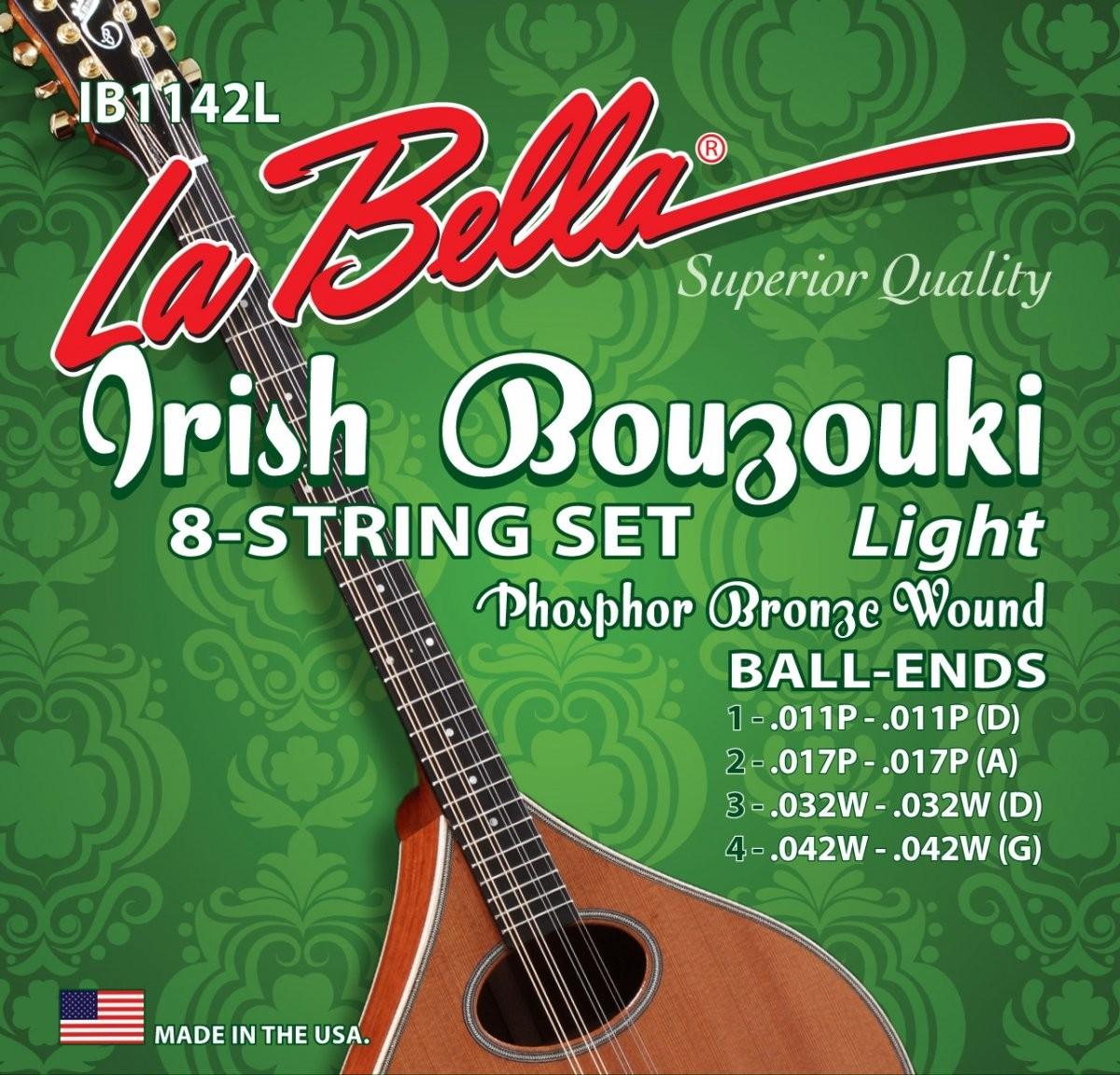 LaBella IB1142L struny buzuki irlandzkie 11-42 phosphor
