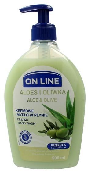 On Line Mydło kremowe w dozowniku Aloes i Oliwk 500ml