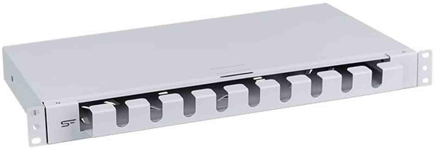 """StalFlex Szuflada zapasu kabla 19"""" 1U szara DSC19-1U-G"""