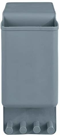 Wenko 23487100 uchwyt na prostownicę Ampio szary - uchwyt ścienny do prostownicy, mocowanie bez wiercenia, silikon, 10 x 36,5 x 6,5 cm