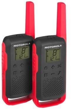 Motorola T62 PMR 446 KRÓTKOFALÓWKI CZERWOWE-CZARNE