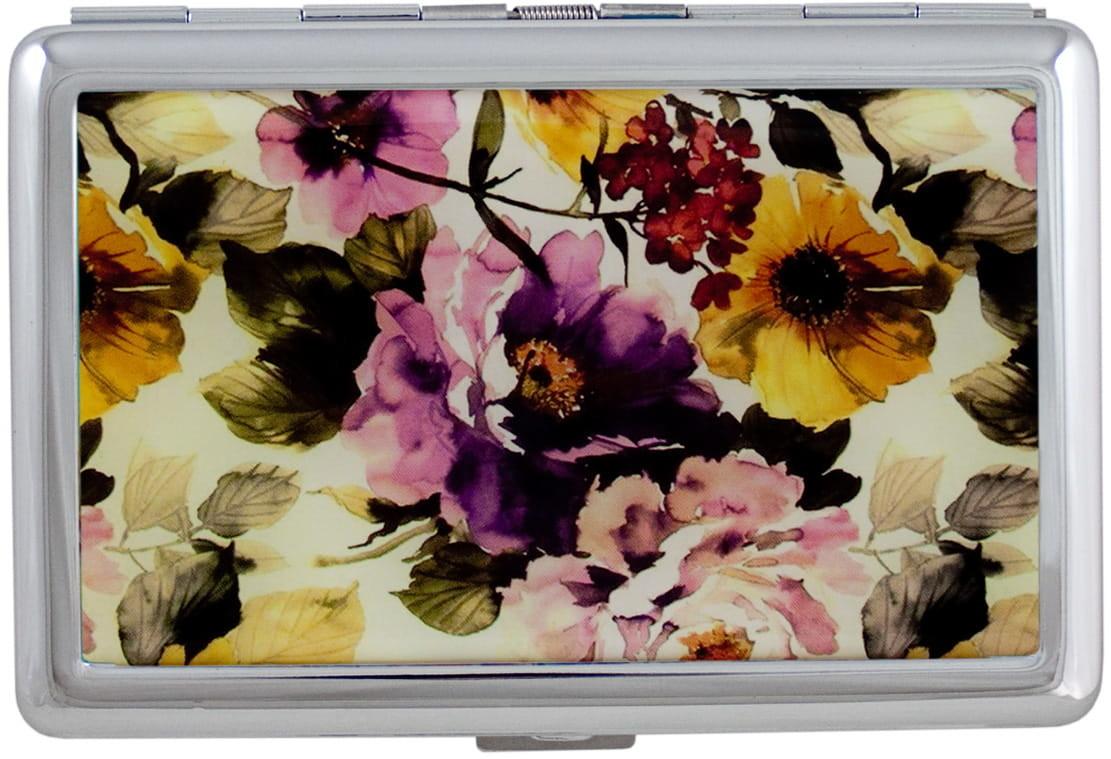 HINZ Design Papierośnica Kwiaty Slim HP9