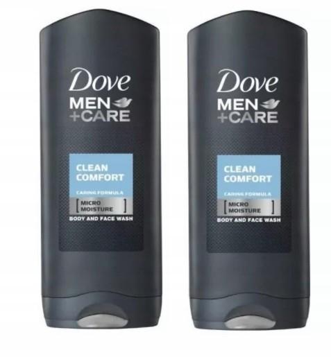 Dove Clean Comfort, Żel pod prysznic, 2 x 250 ml