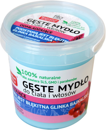 Fitokosmetik Fitokosmetik Mydło do ciała błękitna glinka 155 g () 125126