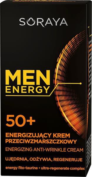 Soraya Men Energy 50+ 50 ml Energizujący krem przeciwzmarszczkowy LETNIA WYPRZEDAŻ DO 80%