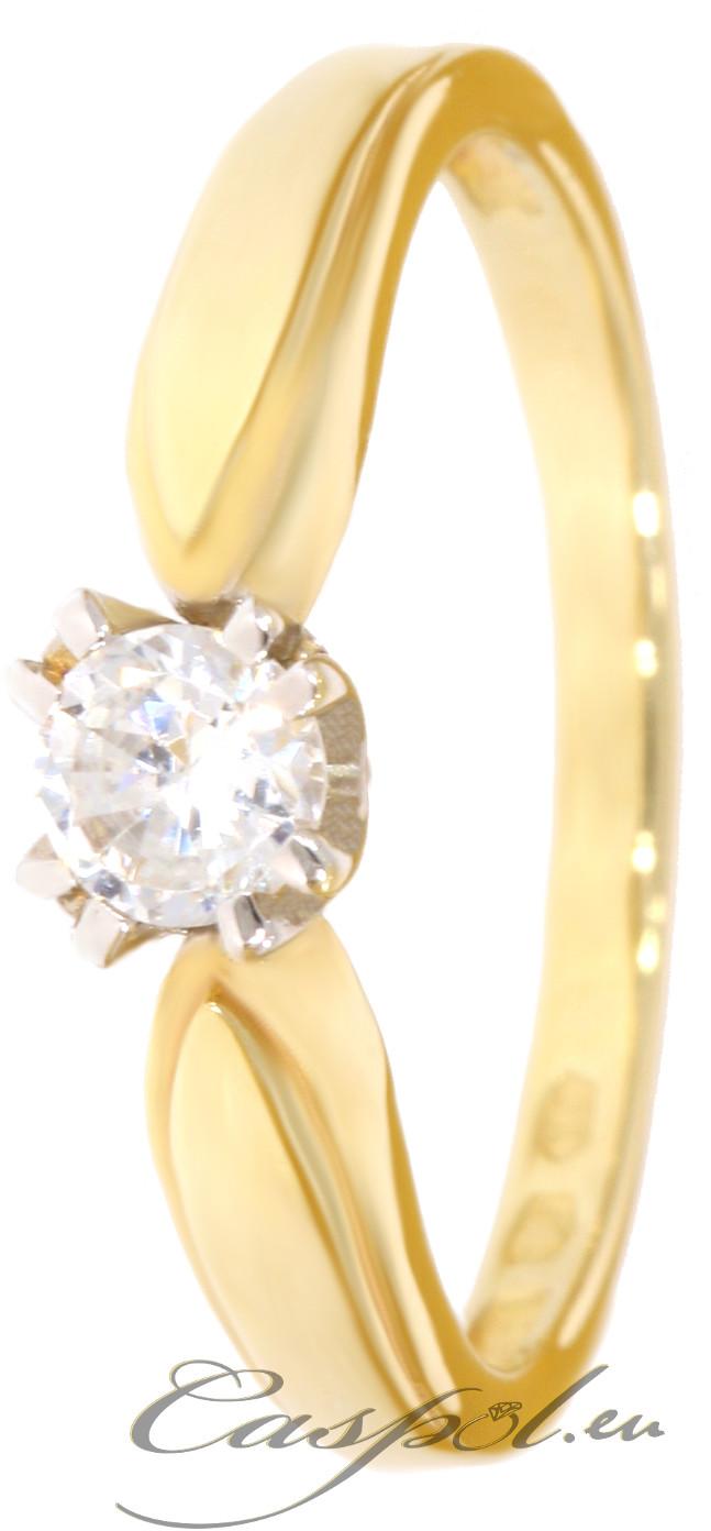 Skagen Złoty pierścionek z cyrkonią PR.111 pr.585