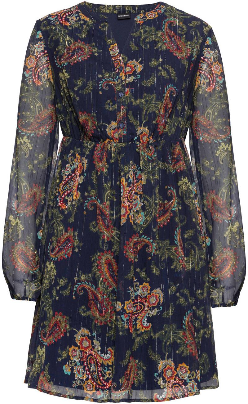 Bonprix Sukienka szyfonowa ciemnoniebieski