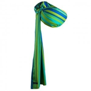 Zaffiro Hug Me Green and Blue Stripes