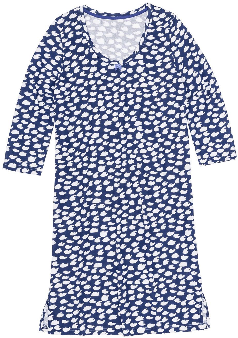 c20a6eb3c5cdfa Bonprix Koszula nocna szafirowo-biały wzorzysty