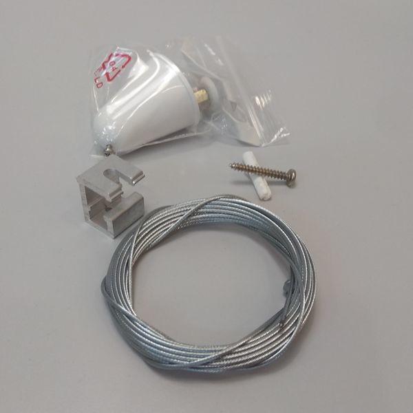 Oxyled Zestaw montażowy do powieszenia szyno-przewodu 3 fazowego Biały