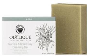 Essential Care Odylique Odylique by organiczne nawilżające mydło w kostce olejek z Drzewa Herbacianego i Zielona Glinka 100g