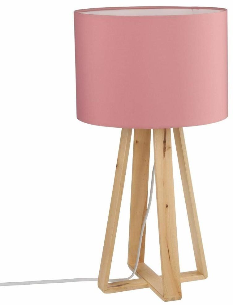 Vintage Atmosphera Créateur dintérieur Różowa lampa stołowa z abażurem lampa drewniana lampa stojąca do salonu lampa lampa stojąca podłogowa lampy nowoczesne B079M9Z14K