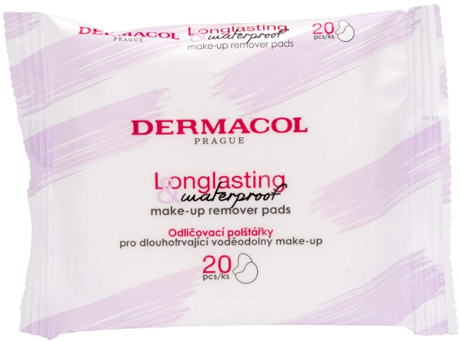 Dermacol Dermacol Longlasting & Waterproof 20 szt Chusteczki oczyszczające