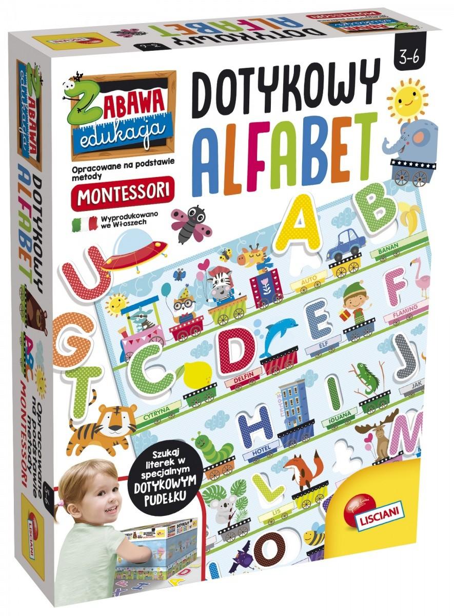 Lisciani Giochi Montessori Plus. Dotykowy alfabet