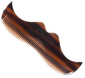 Morgan's Grzebień w kształcie wąsa do brody Morgan's  imitacja szylkretu M084