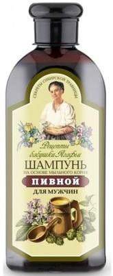 Pierwoje Reszenie Receptury Babuszki Receptury Babuszki Szampon piwny dla mężczyzn przeciw wypadaniu włosów 350ml 1234594069