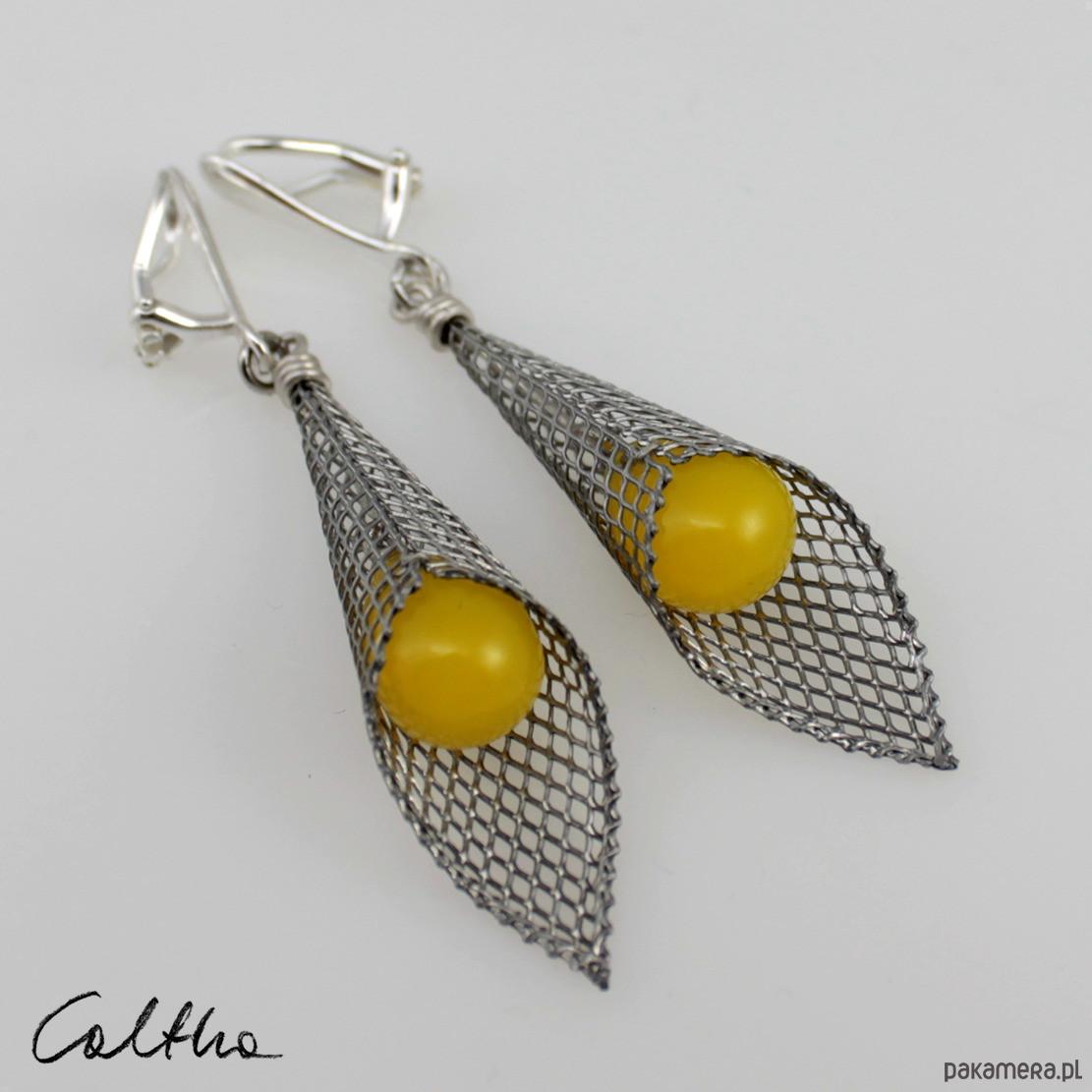 Żółte w rożku - klipsy