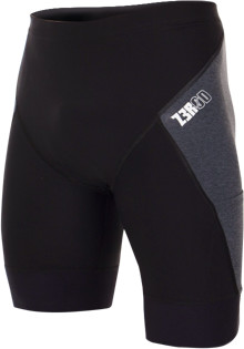 ZEROD spodenki triathlonowe ELITE SHORTS czarno-szare