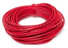 Griffin Griffin WAXED COTTON CORD Bawełniany sznurek woskowany 1mm 5m - Red