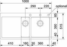 Franke Mythos MTG 651-100 biały polarny 114.0158.647