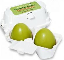 Holika Egg Soap Green Tea - Mydło w kostce do mycia twarzy