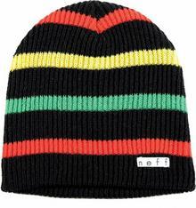 Neff czapka męska NF/H/DAILY STRIPE/BLACK RASTA