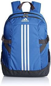 Adidas PLECAK power II, niebieski/biały/czarny, 32 x 18 x 44 cm, 25 litrów, ab1719 AB1719_Blue/White/Black_One size