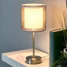 Lampenwelt Atrakcyjna lampka nocna Nica, szara