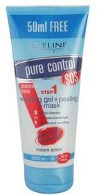 Eveline Cosmetics Pure Control oczyszczający żel 3 w 1 Washing Gel + Peeling + Mask 200 ml