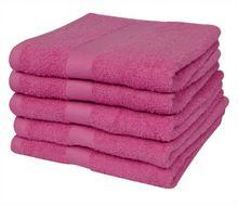 vidaXL vidaXL Ręczniki kąpielowe 5 szt 100% Bawełna 500 gsm 100x150 cm Róż