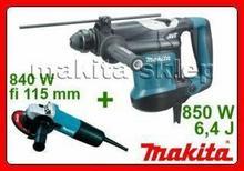 MAKITA HR3210C + 9557, młotko wiertarka SDS-Plus + szlifierka kątowa fi 115mm