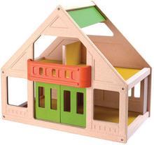 Plan Toys Mój pierwszy DOMEK dla lalek, - naturalny, duży, kolorowy domek dla la
