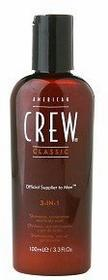 American Crew Classic 3-IN-1, Szampon+odżywka+żel pod prysznic, 250ml