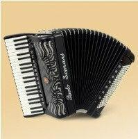 Paolo Soprani Super Paolo 120 41/4/13+M 120/5/7 Piccolo CASSOTTO akordeon (czarn