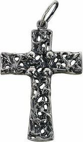 Tyfanit Młodzieżowy krzyżyk srebrny KR5
