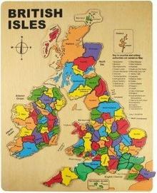 Bigjigs Toys Mapa Irlandii i Wielkiej Brytanii BJ307
