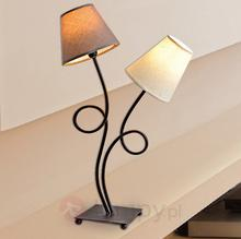 Näve Dwupunktowa materiałowa lampa stołowa Twiddle