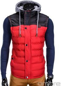 Ombre Clothing BEZRĘKAWNIK V26 - CZERWONY