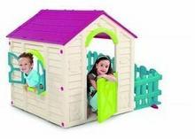 domek dla dzieci Keter - mój ogrodowy Domek Beżowy /Bordowy