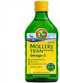 Orkla Health Sp z o.o Mollers Tran Norweski aromat cytrynowy płyn 250 ml + stempelek
