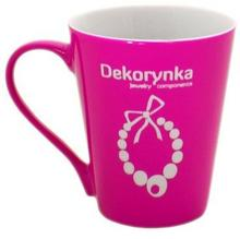 KCG02 Kubek ceramiczny z grawerem DEKORYNKA różowy