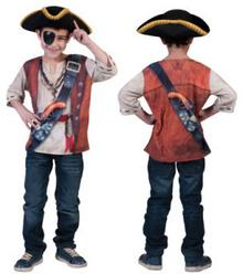 FUNNY FASHION Strój karnawałowy - Bluzka 3D Pirat 411092