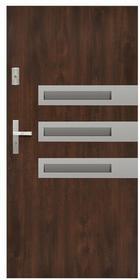 Drzwi zewnętrzne stalowe Stratus Wega 90 prawe orzech