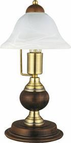 Rabalux klasyczna LAMPA gabinetowa ODETT 8612 IP20 drewno Patyna biały