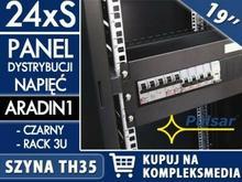 PULSAR 24xS - Panel dystrybucji napięć do szaf RACK 19 marki W PAKIETACH KUPISZ TANIEJ! ARADIN1